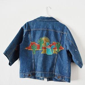 Wrangler vintage Hand painted custom denim jacket